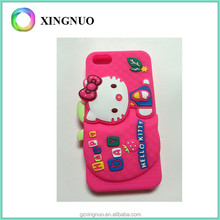 Cute 3D Cartoon Silicone Soft Rubber Gel Case Cover Hello Kitty Phone Case for iphone 5