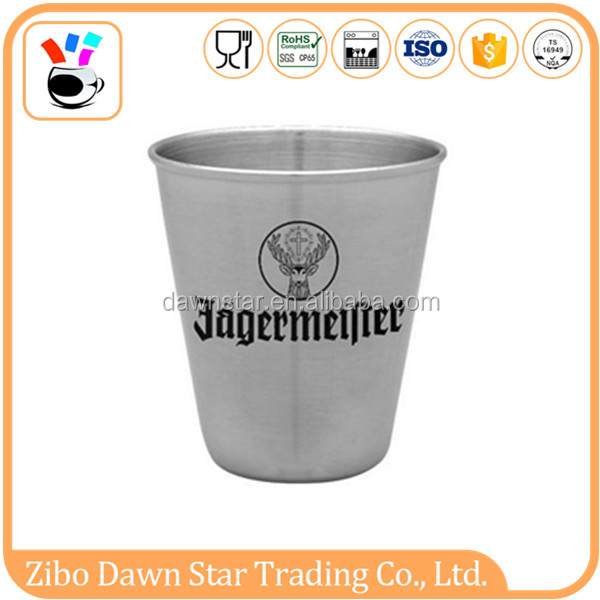 custom logo stainless steel shot glass