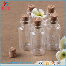 glass bottle with cork stopper 10ml, empty vials 22*50mm for sale