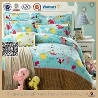 Manufactory walmart alibaba china home textile printed luxury cotton bed sheet set