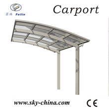 Polycarbonate and aluminum carport stainless steel appliance garage