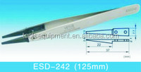ESD Replaceable Tip Stainless Steel Tweezer ESD-242