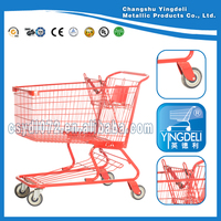 High quality red American shopping cart on hot sale