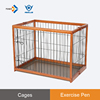 EPW - M Rubber Wood Collapsible galvanized portable metal pet dog box cage kennel