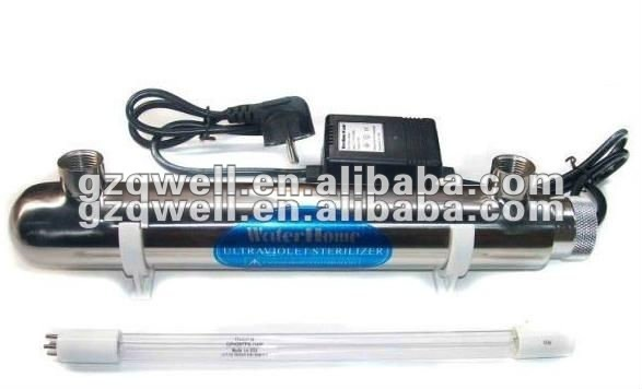 High quality QWUV-2GPM UV water sterilizer with Philips lamps, ballast for water purifier