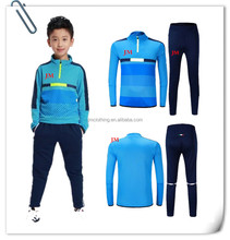 Hot sale custom kids soccer training tracksuit boy sportswear children tracksuits