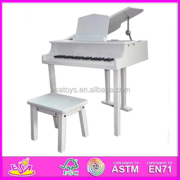 Hot selling musical instrument perfect white grand piano for kids,Wholesale Top Quality White Grand Piano W07C018-A1