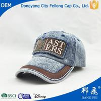 stone washed denim Material and Embroidered Pattern Embroidered caps retail
