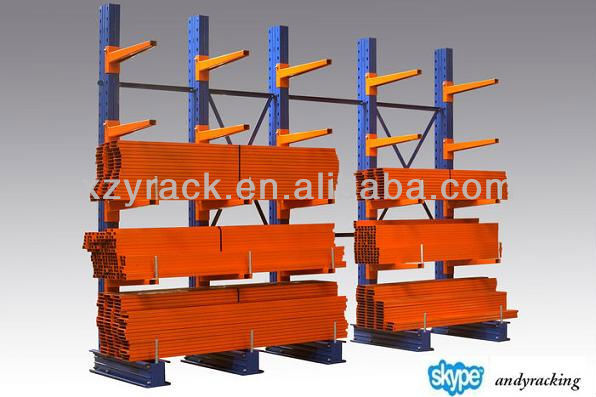 industrial warehouse pipe storage cantilevered rack