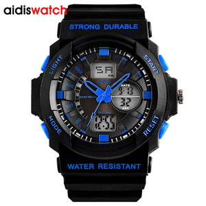 2017 Men Sport Watch Chronograph Alarm Waterproof Relogio Masculino LED Digital Wristwatches Dual Display Watches