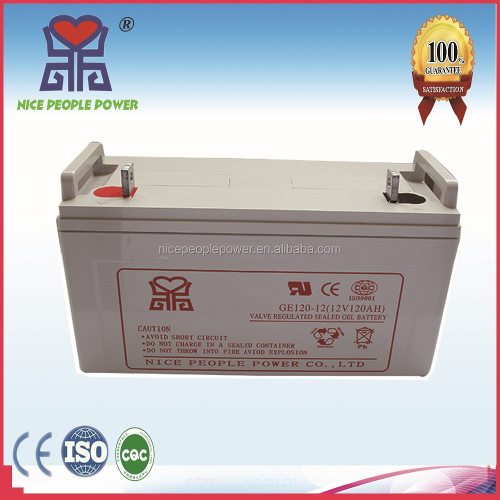 dry deep cycle gel battery 12V120AH with high capacity 7days delivery time