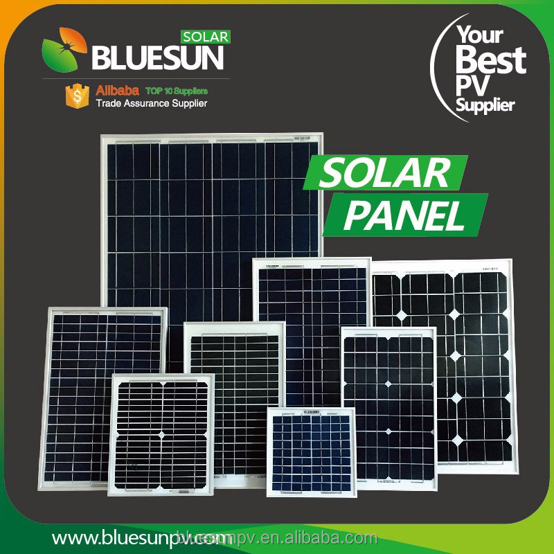 Long High Efficiency tata solar panel price for small system 50w 30w 20w
