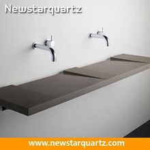 Fashion Modeling Quartz Stone Bathroom Vanity Top