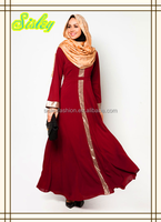 A-line Islamic Clothing long Dress Abaya customerized fashion jubah for muslim women