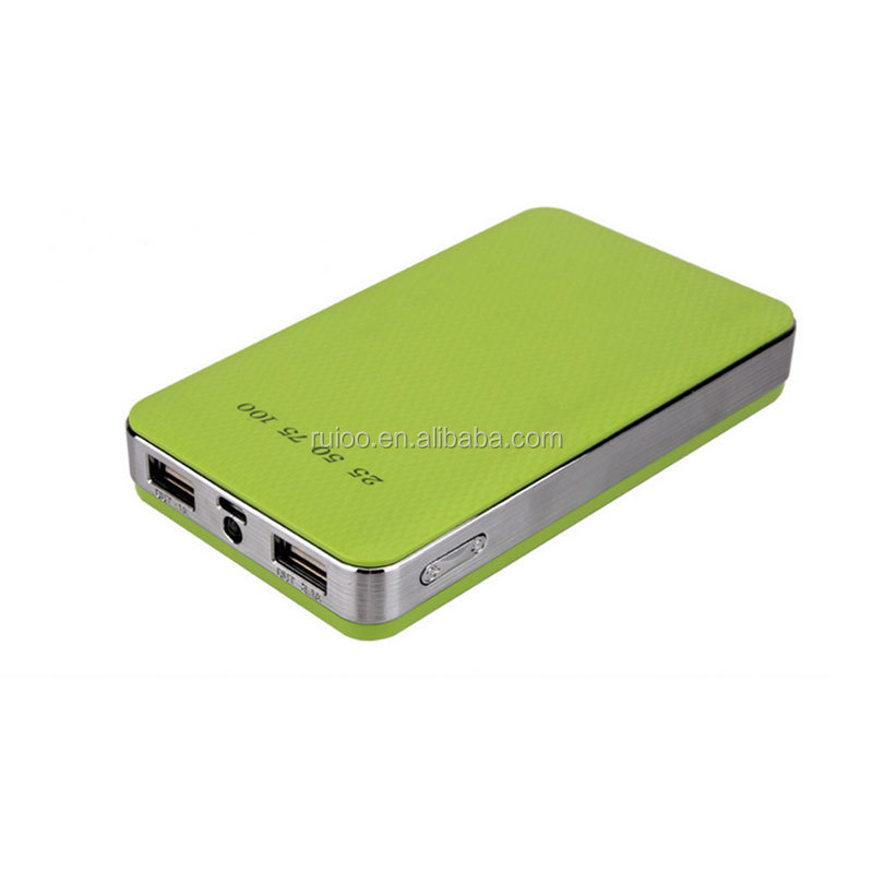 new design dual USB power bank 15000 mah hot sale travel portable mobile power charger 15000 mah with led light