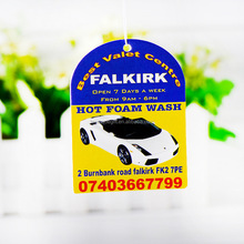 Logo Printed Custom Hanging Paper Car Air Fresheners Wholesale