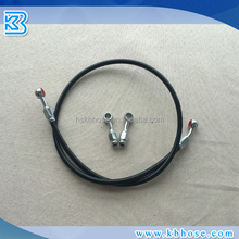 "An3 An4 1/8"" 3.2mm Stainless Steel Braided PTFE Teflon Brake Hose Kit With PVC PU Cover And Swivel Banjo Fittings"