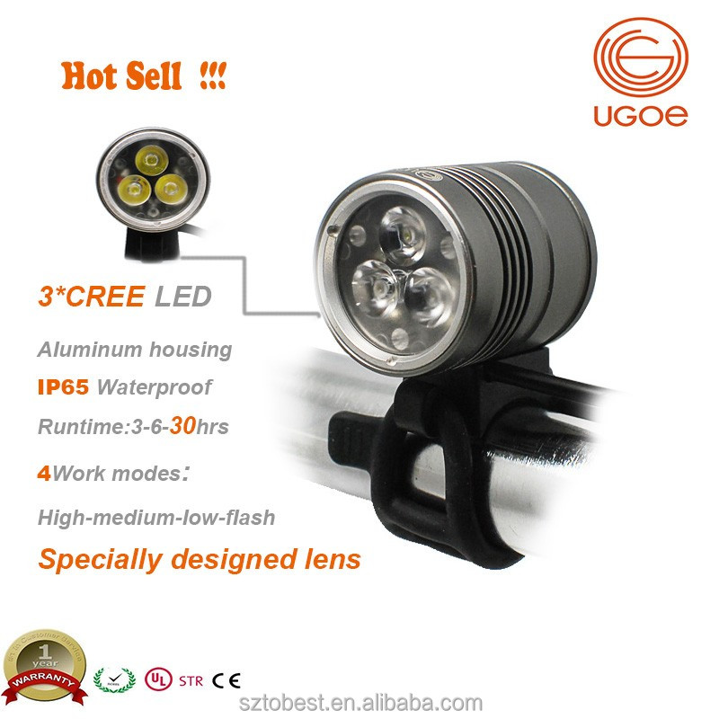 UGOE bike light 1500 lumen mountain bicycle light cycle helmet light