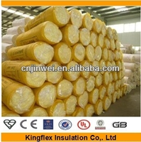 fiber glass wool insulation blanket roll for ductwork for refrigeration machine