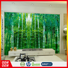 Bamboo forest TV wall wallpapers 3D wall murals Chinese pastoral scenery bamboo forest sofa wallpaper