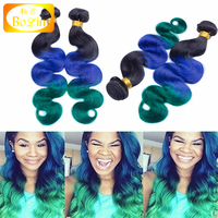 100% unprocessed wholesale three town sew in human hair weave ombre hair