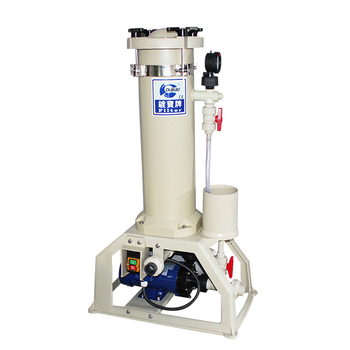PP cartridge filter machine with optional membrane filter