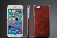 2016 New style fashion genuine leather Dual cardholder case for iphone 6/6plus with strap CO-LTC-1058