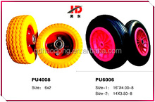 best quality wholesale pu foam wheel with various patterns 3.50-8