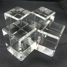 Factory made good k9 blank crystal cube for 3d laser engraving