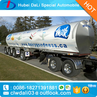 Tri Axle Aluminum Alloy Fuel Milk