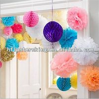 Tissue Honeycomb balls, Tissue paper pom poms for Wedding Party Decoration