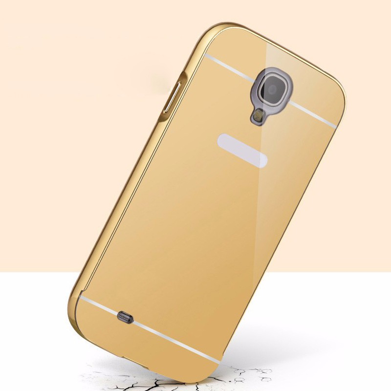 Metal bumper mirror mobile phone cover for samsung galaxy s4