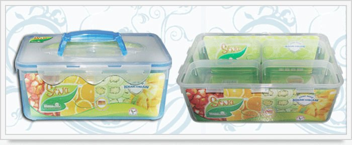 Home plastic and food container plastic