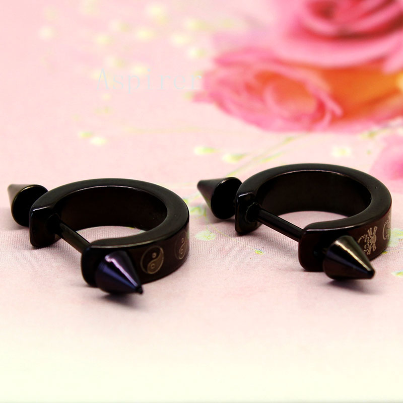 Fashion Black Stainless Steel Circle Nipple Stretching Jewelry Piercing Bulk Buy From China