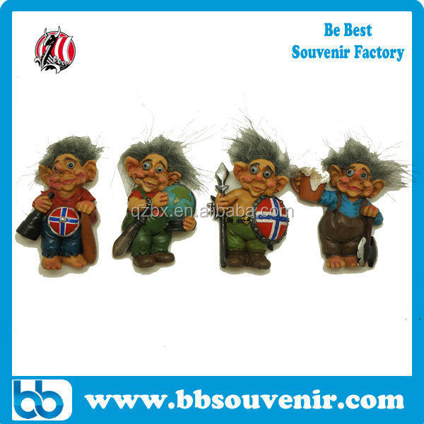 wholesale souvenirs fridge magnet resin viking magnet