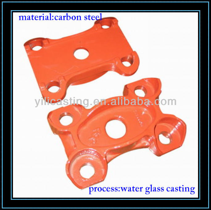 Spring Pad carbon steel casting water glass sand casting cast iron foundry