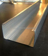 Ceiling metal studs and track for drywall partition