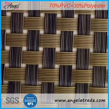 Best selling PVC products vinyl woven fabric for beach chair and placemat