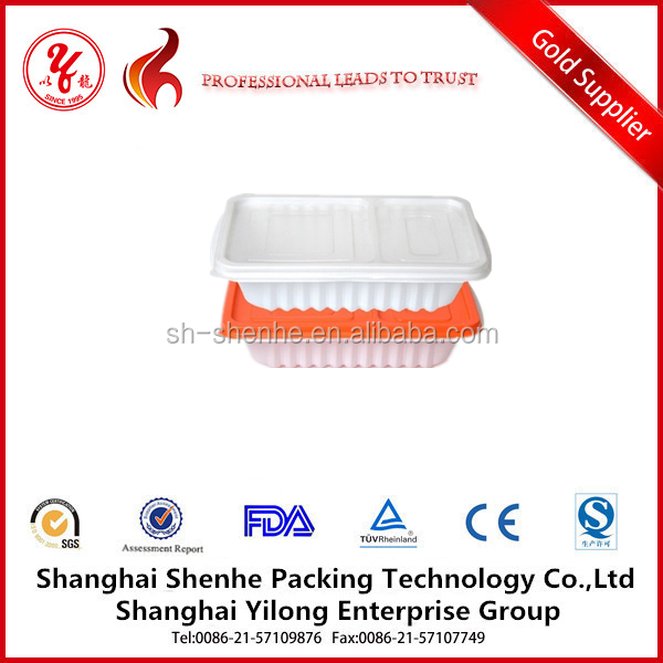 compartment disposable food tray plastic serving tray with cover