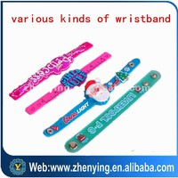 Promotional ink filled silicone bracelet,silicon wristband,slap wristband