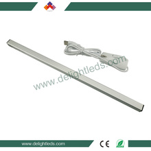 Delighted manufacturing usb ip43 led tube light 5w aluminum led tube dimmable for wardrobe