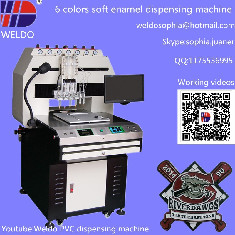 Paint tinting machine for metal badge with high precision for Paint tinting machine