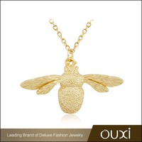 OUXI new design 925 italy silver 24k gold plated payal jewelry necklace for girl Y10034