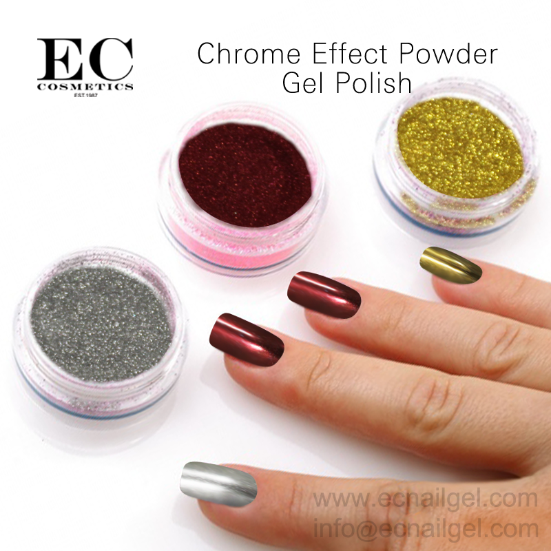 2017 New styles up to grade chrome powder pigment no stain gel nail manicure cost