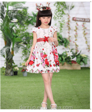 New Arrival Little Girl Ball Gown Floor Length Pink/blue Flower Girls Dresses For Children Prom Gown