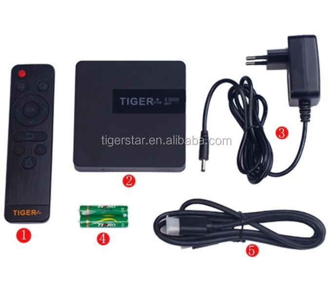 Tiger I3000 OTT TV Receiver with download hd 1080p video