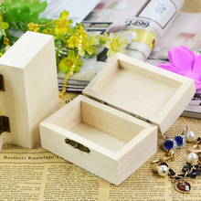 Jewelry Storage Boxes wholesale DIY Decor Toy Crafts Wooden Organization Accessories Factory custom engraving wood products Logo