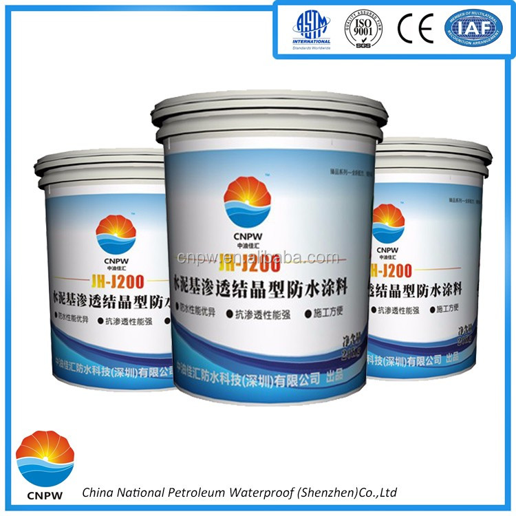 JH-J200 High quality cementitious capillary crystalline waterproof roof coating material