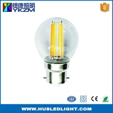 China gold manufacturer good quality led filament bulb ball g45 e27
