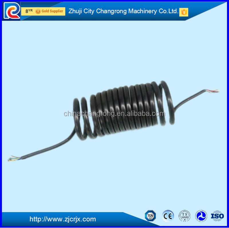 Truck trailer car PU spring 7 pin coiled cord electrical cable pu spiral coil spring cable PU coil cord